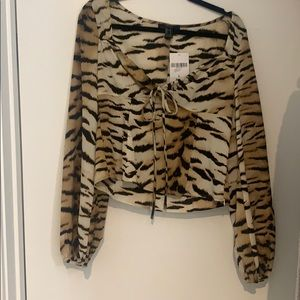 Women's Forever 21 Tiger animal print top